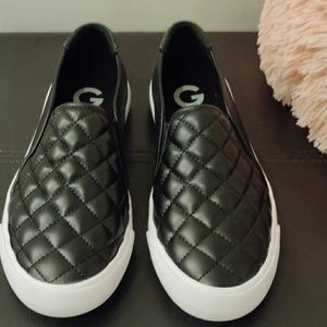 G by guess quilted slip ons
